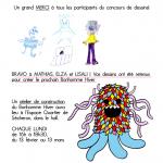 Résultat du concours de dessins du Bonhomme Hiver