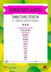 Espace quartier Secheron - Journee portes ouvertes - samedi 25 avril 2015
